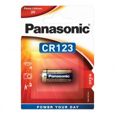 Battery Panasonic Lithium Power CR123AL/1BP 123/E123A/K123L/CR17345 3V Pcs. 1