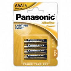 Battery Alkaline Panasonic Alcaline Power LR03APB/4BP size AAA 1.5V Pcs, 4