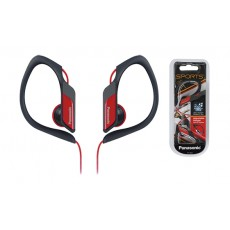 Earphone Panasonic RP-HS34E-R 3.5mm IPX2 Red with Adjustable Hanger for mp3, iPod and Sound Devices without Microphone