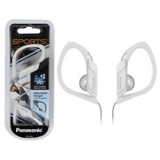 Earphone Panasonic RP-HS34E-W 3.5mm IPX2 White with Adjustable Hanger for mp3, iPod and Sound Devices without Microphone