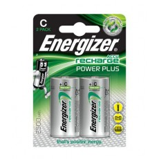 Rechargeable Battery Energizer ACCU Recharge Power Plus HR14 2500 mAh size C 1.2V Pcs 2
