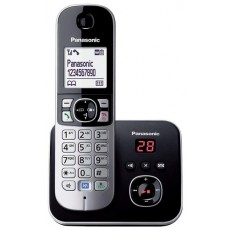 Dect/Gap Panasonic KX-TG6821JTB Black with Anwering Machine and Eco Mode
