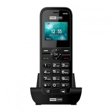 "Maxcom MM36D 3G 1.77"" with Large Buttons, Radio and Desktop Charger Black"