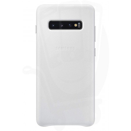 Case Faceplate Samsung Leather Cover EF-VG975LWEGWW for SM-G975F Galaxy S10+ White