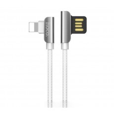 Data Cable Hoco U42 Exquisite Steel USB to Lightning White 1.2 m.