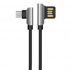 Data Cable Hoco U42 Exquisite Steel USB to Micro-USB Fast Charging 2.4A Black1.2 m.