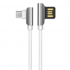 Data Cable Hoco U42 Exquisite Steel USB to Micro-USB Fast Charging 2.4A White 1.2m.