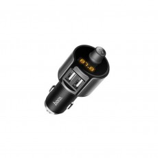 Bluetooth FM Transmitter Hoco E19 Smart with 2 USB Ports Metal Gray