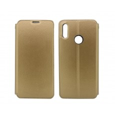 Book Case Ancus Magnetic Teneo for Huawei Y7 (2019) TPU Gold