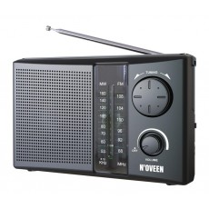 Portable FM Radio N'oveen PR450 1W Black with Mains and Battery Supply