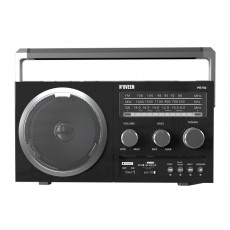Portable FM Radio N'oveen PR750 5W Black with USB Port, MMC, Audio-in and Mains and Battery Supply