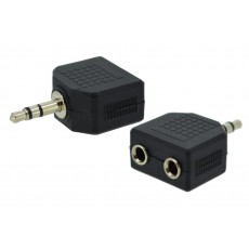 Adaptor Ancus HiConnect Audio 3.5 mm Male to 2 Female 3.5 mm Black