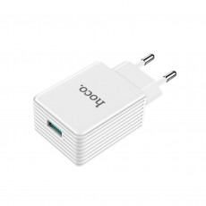 Travel Charger Hoco C34A Platinum Single USB QC 3.0 18W White