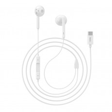 Hands Free Hoco L10 Earphones Stereo USB-C White with Micrphone and Operation Control Button