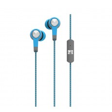 Hands Free Body Glove Blast Earphones Stereo 3.5mm Blue with Micrphone with Cord Cable