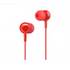 Hands Free Hoco M14 Initial Sound Earphones Stereo 3.5mm Red with Micrphone and Operation Control Button