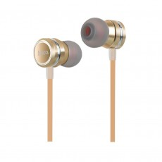Hands Free Hoco M16 Ling Sound Earphones Stereo 3.5mm Gold with Microphone and Operation Control Button