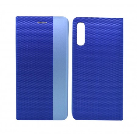 Book Case Ancus Magnetic Canvas for Samsung SM-A505F Galaxy A50 TPU Blue