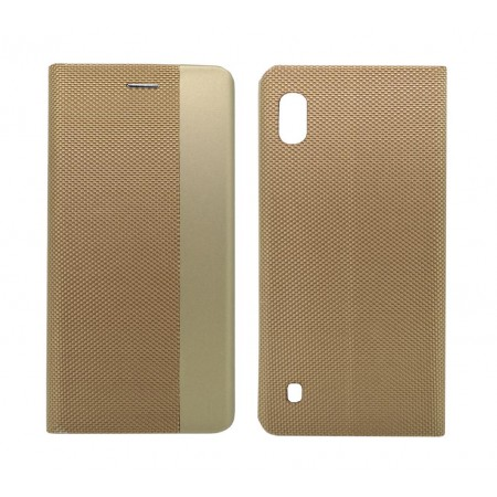 Book Case Ancus Magnetic Canvas for Samsung SM-A105F Galaxy A10 TPU Gold