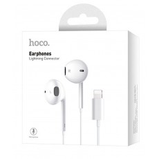 Hands Free Hoco L9 Original Series Earphones Stereo Lightning White with Micrphone and Operation Control Button