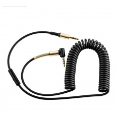 Audio Cable Hoco UPA02 3.5mm Male to 3.5mm Male 2m. Black with microphone