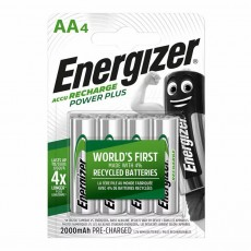 Rechargeable Battery Energizer ACCU Recharge Power Plus 2000 mAh size AA 1.2V Pcs 4