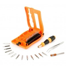 Screwdriver Jakemy JM-8104 29 pcs Set. Star, Philips, Triangle. Magnetic with Ergonomic Box. Includes Extension Bar and Tweezer
