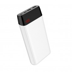 Power Bank Hoco J28A Shock Power 20000 mAh with Type-C Micro USB and 2 USB Ports 2.0A Fast Charging and Intelligent Balance White