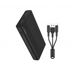 Power Bank Hoco J33A Cool Freedom 20000 mAh with Micro-USB & Type-C 5V/2A Fast Charging 2 USB ouput ports and LED Indicator Black