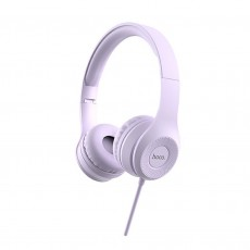 Headphone Stereo Hoco W21 Graceful Charm 3.5mm with Microphone Purple