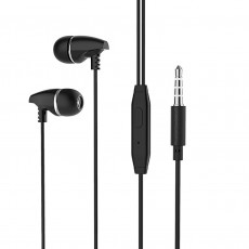 Hands Free Borofone BM25 Sound Edge Universal Earphones Stereo 3.5 mm Black with Micrphone and Operation Control Button