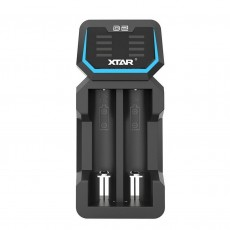 Industrial Type Battery Charger Xtar D2 USB, 2 Positions with Power Display for Batteries