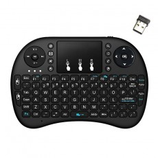 Wireless Keyboard and Remote Keywin Mini Rii i8+ with Backlit for Smartphone, Tablet, PC, και SmartTV Black