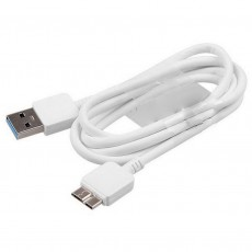 Data Cable Ancus USB 3.0 for Galaxy Note 3 ( Note III )/Galaxy S5  to USB White
