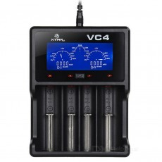 Industrial Type Battery Charger Xtar VC4 USB, 4 Position with LCD Power Display for 18650/17670/17500