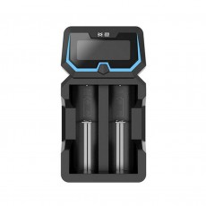Industrial Type Battery Charger Xtar Χ2 USB, 2 Positions Fast Charge 2A with LCD Power Display for Batteries