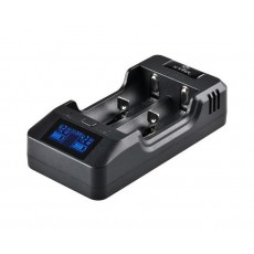 Industrial Type Battery Charger with Powerbank Fuction Xtar VP2 USB, 2 Position with LCD Power Display for 18650/17670/17500