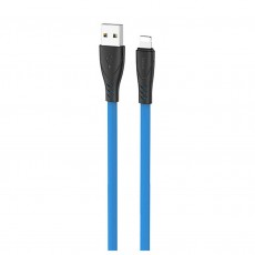 Data Cable Hoco X42 USB 2.4A Fast Charging to Lightning with Liquid Silicone 1m. Blue