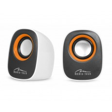 Speaker Set Media-Tech MT3137W IBO 3.5mm with 6W USB Power White