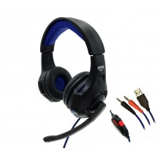 Stereo Headphone Media-Tech COBRA PRO THRILL MT3594 3.5mm with Microphone, Volume Control and Light Illumination Black