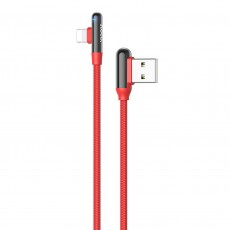 Data Cable Hoco U77 With Elbow USB to Lightning Fast Charging 3.0A 18W Red 1.2m