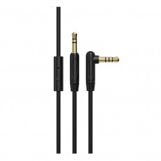 Audio Cable Borofone BL5 3.5mm Male to 3.5mm Male with Microphone 1m. Black