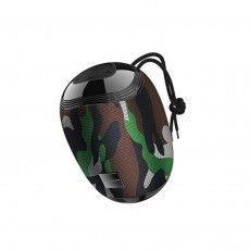 Wireless Speaker Borofone BR6 Miraculous Camouflage Green V5.0 TWS 5W, IPX5, Microphone, FM, USB & AUX Port and Micro SD