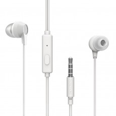 Hands Free Borofone BM28 Tender Earphones Stereo 3.5 mm White with Micrphone and Operation Control Button