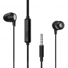 Hands Free Borofone BM28 Tender Earphones Stereo 3.5 mm Black with Micrphone and Operation Control Button