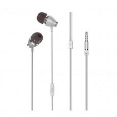 Hands Free Hoco M28 Glaring  Earphones Stereo 3.5mm  White with Micrphone and Operation Control Button