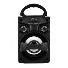 Compact Bluetooth speaker BOOMBOX LT 300W , FM radio, MP3 player, possibility to connect microphone, powered with removable lithium battery, sockets AUX, USB, microSD sokets, music power 300W PMPO.