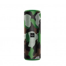 Wireless Speaker Hoco BS33 Voice Camouflage Green V5.0 2x5W, 1200mAh, IPX5, Microphone, FM, USB & AUX Port and Micro SD