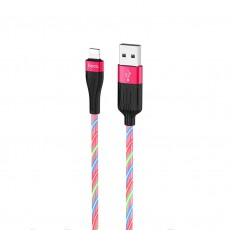 Data Cable Hoco U85 Charming night USB to Lightning 2.4A Red Streamer 1m.