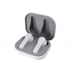 Wireless Hands Free Hoco ES34 Pleasure V.5.0 White with Touch Sensor, Switching Master/Slave and Siri / Google Assistant